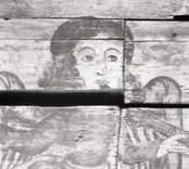 Målat tak, ursprungligen från Kristvalla gamla kyrka.