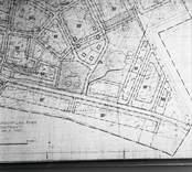 Karta, detalj av byggnadsplanen för Krithagen.