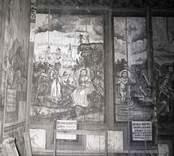 Väggmålning i Hjorteds kyrka.