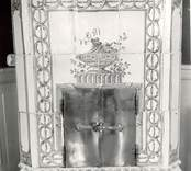 Blå rummet. Övre förstugan. Foto:M. resp. Erik Hofrén 1959