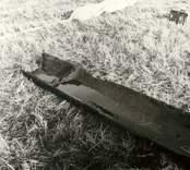 Stockbåt funnen vid årensning. Södra Agebo 2:6