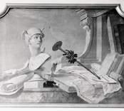 Dörröverstycke, oljemålning på väv på Slottet.