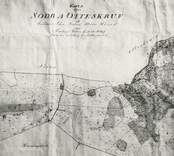 Skifteskarta från 1848 över Ottoskruv by.