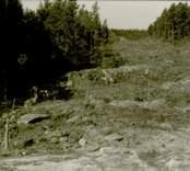 Arkeologisk undersökning  Boplats C:1 under utgrävning. Från norr.