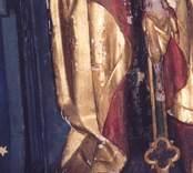 Detaljbild av nådastolen i Gladhammar kyrka.