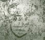 Målning på norra korväggen i Gärdslösa kyrka.