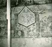 Målning på norra korväggen med motiv ur bibeln.