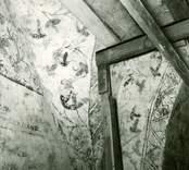 Målning i koret. Triumfbågens inre sida.