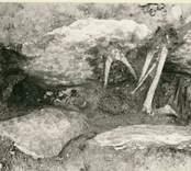 En hällkista med mänskliga kvarlevor påträffad vid Störlinge gravfält.