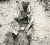 En hällkista med mänskliga kvarlevor påträffade vid gravfältet i Störlinge.