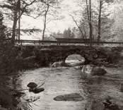 Eventuelt kvarnbron över Hjortens utlopp vid Strömsfors.