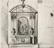 Foto efter ritning i kyrkans arkiv.