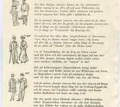 """""""Jubileumsvisa. """"Fritt efter Dan Andersson: Jungman Jansson."""" Hej åhå, skeppar Jansson, hundra år har rullat undan, sedan Vika blev en stapelstad med namnet Oskarshamn; nu som gammal sitter du på Långa soffan i begrundan och hör smattrandet från Verkstan och rasslet från hamn... Hej åhå, skeppar Jansson, redan mojnar aftonvinden, Furöns fyr därute blinkar och Blå Jungfrun syns ej mer. Nu på svaj du sätter mössan, gör ett slag och fångar vinden, gör en lov omkring """"Terrassen"""" och hem dej beger. CYRUS MANNERVIK ( pristagare i Oskarshamns-Tidningens tävling om jubileumssång till 100-årsdagen."""""""