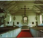 Interiör från långhuset i Törnsfall kyrka.