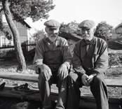 K.A. Karlsson och Lars Karlsson. Foto: 15/08 1947.
