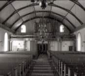 Invändig restaurering av kyrkan.