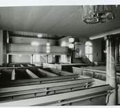 Interiör från Hälleberga kyrka före branden 1976