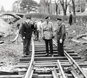 Inspektion av järnväg i Västervik.