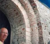 Från en renovering av Hjorteds kyrka.