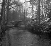 Bron vid djupa hål.