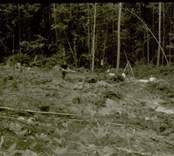 Arkeologisk undersökning  Boplats C:2, arbetsbild från väster.