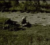 Arkeologisk undersökning 920330-921026  Boplats B. Arbetsbild: AB ritar.