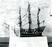 Votivskepp i Döderhults kyrka. Uppförande hela kyrkan 1770-72.