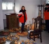 Besiktning av epitafier i Gladhammars kyrka då denna renoverades.