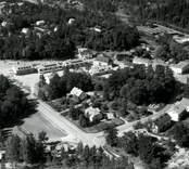 Flygfoto över Överum.