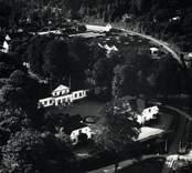 Flygfoto över Överums herrgård.