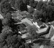 Flygbild över Överums herrgård.