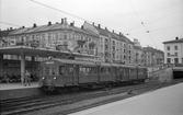 Holmenkolbanen station på Majorstuen. HKB 607/608 byggda av Skabo och Nebb 1951.