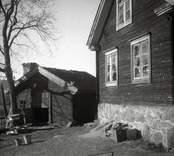 Hagnebo flygelbyggnaden, gaveln och boden.