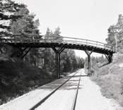 Bro över SJ sydost om Forshult i Oskarshamns kommun. Foto, från öster.