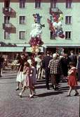 Uppblåsta ballonger till försäljning på Kungstorget, Uddevalla